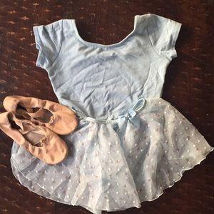 Ballet leotard, skirt, shoes